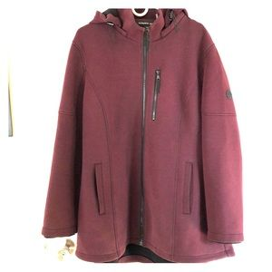 Andrew Mark hoodie in a wine color